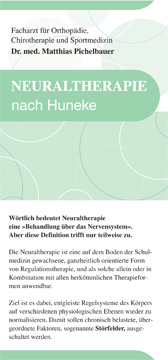 Flyer Neuraltherapie